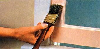 Окрашивание деревянных деталей