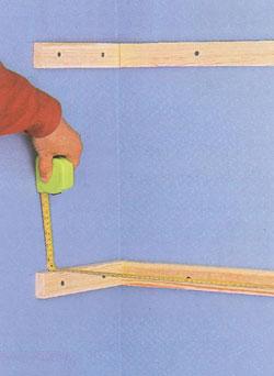 Изготовление полок на рейках