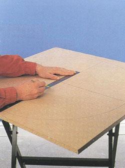 Изготовление угловых полок