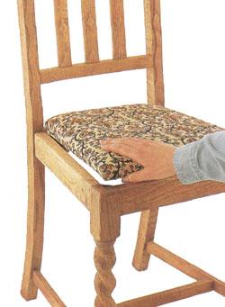 Перетяжка съемного сиденья