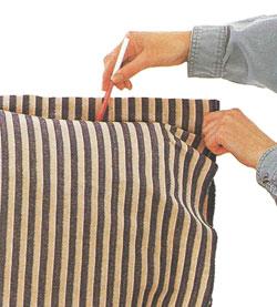 Изготовление чехла для софы