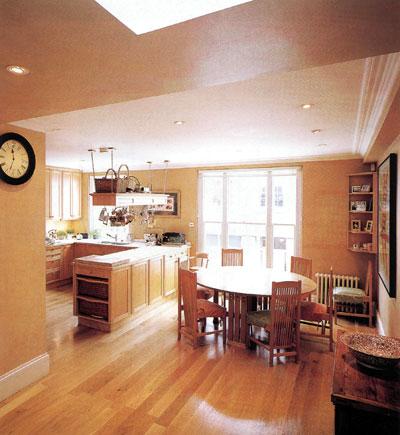 Дизайн кухни в зелёных тонах