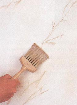 Покраска стен под мрамор