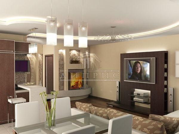 Интерьера 4 х комнатной квартиры 115 м2