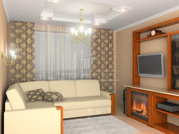 Интерьер 2 х комнатной квартиры 86 м2