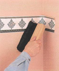 Наклеивание бордюров и фризов