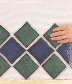 Облицовка стены плиткой