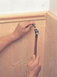 Обшивка стен шпунтованными досками