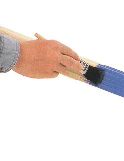 Окрашивание деревянных деталей притиранием